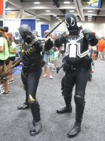 Black Panther and Agent Venom by pa68