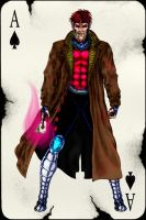 Remy LeBeau, a.k.a. Gambit. by eikel