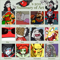 2011 Summary 'o Art by BrokenTeapot