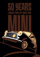 Mini 50th Anniversary Poster by LasseBauer