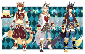 [CLOSED] Mirals Adoptable Auction Set 2 by 0w0b