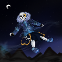 Undernight Sans - Dream or not by Returnmemory