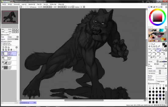 W.I.P Shit just hit the fan by Grypwolf