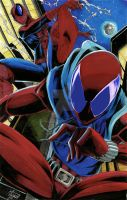 Spider-Man and the Scarlet Spider by BlackArachnid