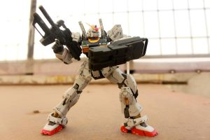 Gundam Mk-II Rooftop Photo Test 1 by HiroyRaind