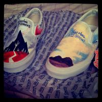Sleeping with Siren shoes by MonteyRoo