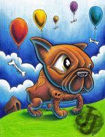 French bulldog commission by jerrrroen