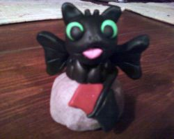 Toothless Clay Figurine by The-Muzick-Girl