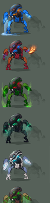 The Bohrok swarm (swarm part 3) by Just-a-drawing-Cat