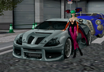 Morrigan with a sports car by GenSamus