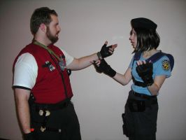 Jill Valentine and Barry Burton Dialogue by Sheikahchica