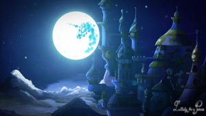Lullaby For A Princess Castle Background by Simbaro
