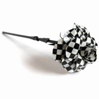 Checker Board Duct Tape Rose by DuckTape-Rose