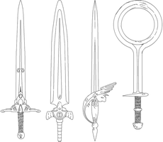 FATM Swords Lineart 2 by SRegan