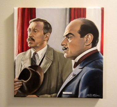 Poirot and Japp - acrylic by auggie101