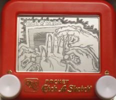 Etch a sketch hand doodles by pikajane