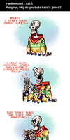 Undertale ask blog: he also hates laziness by JimPAVLICA