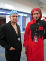 Fanime'12: Archie and Maxie by theEmperorofShadows