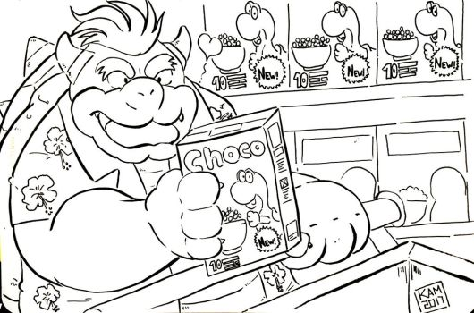 Bowser shopping in mini market by Kamui270