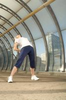Exercising in Docklands by AlexandraB24