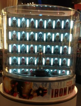 Iron Man 3 Hall of Armor Display 2 by AdamC11779