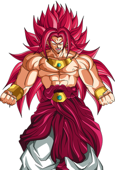 Broly God Red by DragonBallAffinity