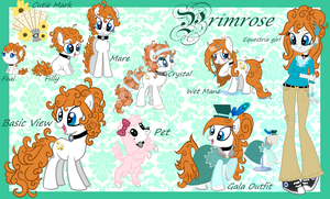 MLP - Primrose Reference Guide by Kazziepones