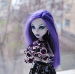 Flowers for monsters: Spectra and purple roses by ItSurroundsMe