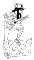 Free sketch: Guitar hero Camille by Furedo