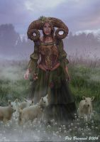 The Shepherdess by patriciabrennan