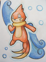 C: A buizel OC by FlameTheFlareon