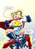 Power Mad ( Captain Atom and Harley Quinn ) by adamantis
