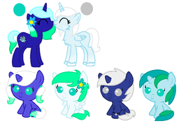 Breedable adoptables set 4- CLOSED by LittleSnowyOwl