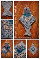 Narwhal Lovey Blankey by the-carolyn-michelle