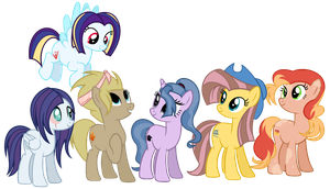 {3rd next gen}  Mane6 by Rainy-PoNyashka-Dash