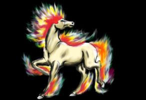 Rapidash- Photoshop by haveacookie