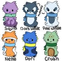 Scarfblob Adopts-Batch 12-Closed by dayylights