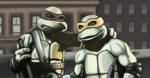 TMNT 1990 Movie Don and Mikey by JodyBriggs