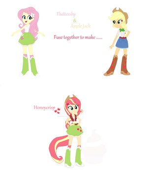 Fluttershy and Apple Jack fusion #1 by creepypastaFran