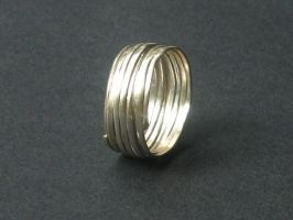 Coiled Ring by silver-zaira