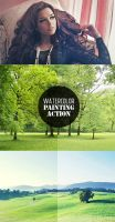 Free Photoshop Actions WaterColor Painting Action by Designslots