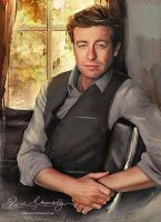 In the morning - Simon Baker ( Patrick Jane ) by artistamroashry