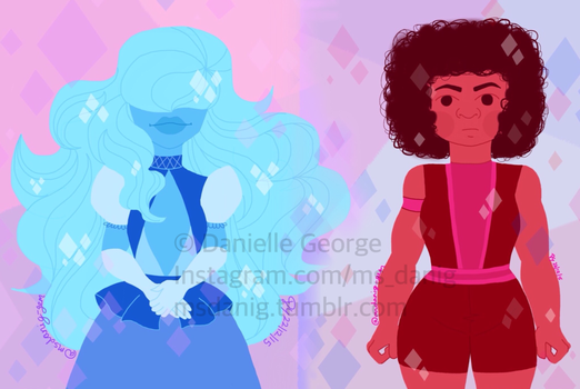 Homeworld Ruby and Sapphire (Steven Universe) by richstud1
