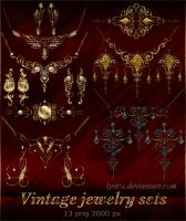 Vintage jewelry sets by Lyotta
