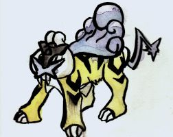Raikou Watercolor by Justin-Hoffman