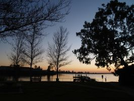 Lake after the sunset by CatherineAllison