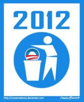 Obama 2012 Campaign Logo by Conservatoons