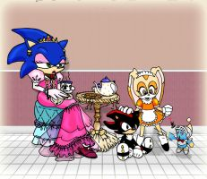 Sonic the Hedgehog - Tea and Cream's Fantasy by kalahee