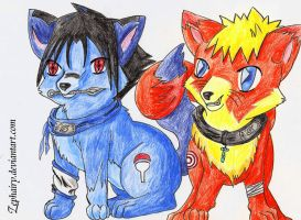 Naruto, Sasuke: Play with me by Zephairy
