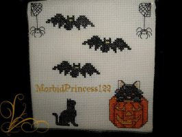 Halloween Cross Stitch by MorbidPrincess122